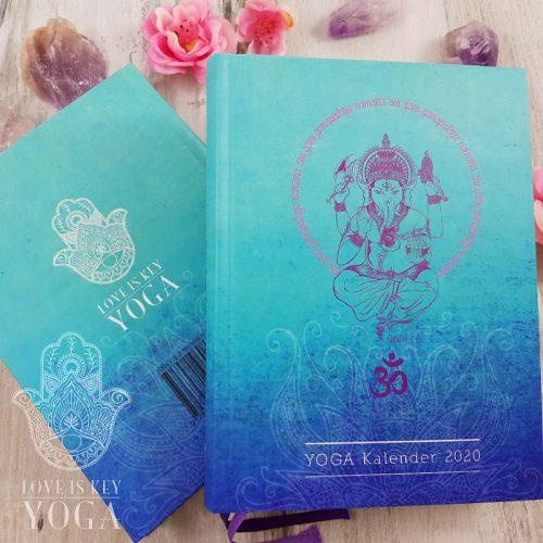 YOGA Kalender 2020 Cover und Rueckseite
