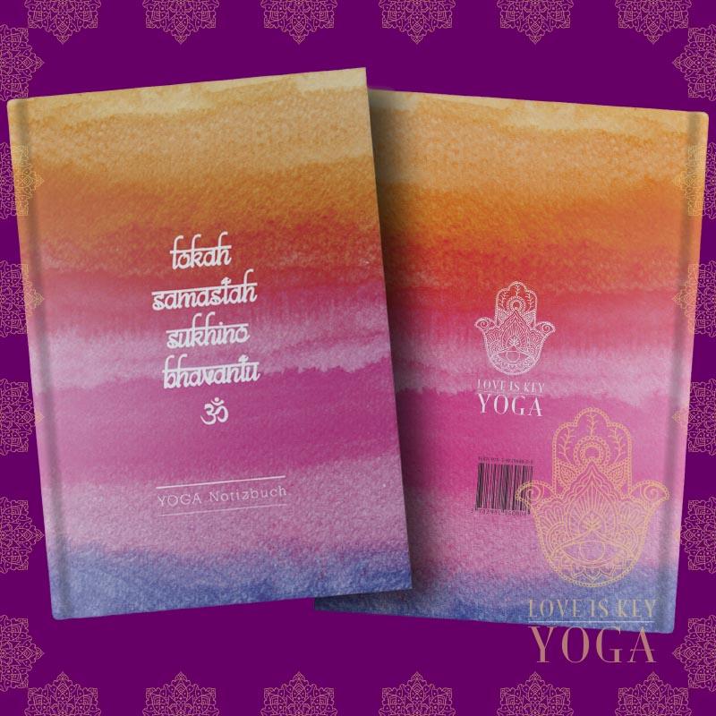 YOGA Notizbuch Lokah Samastah