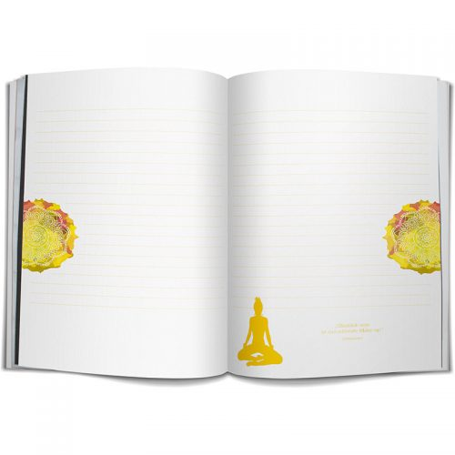 Yoga Notizbuch Lokah Samastah DIN A5