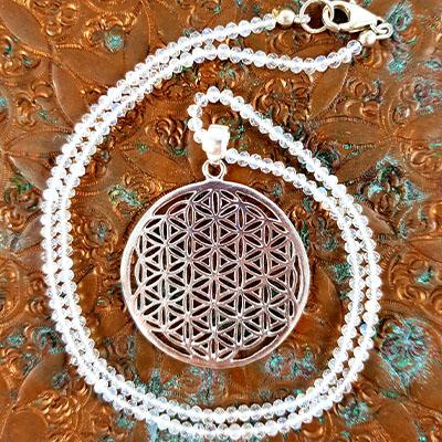 Mondsteinkette Blume des Lebens -maxi-