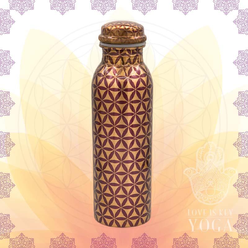 Kupferflasche Blume des Lebens Muster