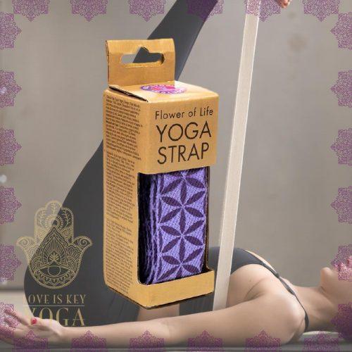 Yogagurt Blume des Lebens aus Baumwolle