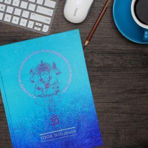 Yoga Notizbuch Ganesha - desk