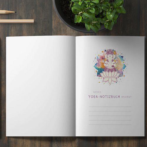 Yoga Notizbuch Ganesha - gehoert