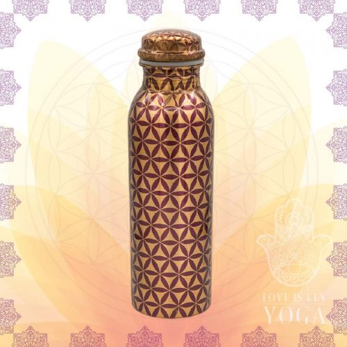 Kupferflasche Flower of Life (0,75l)