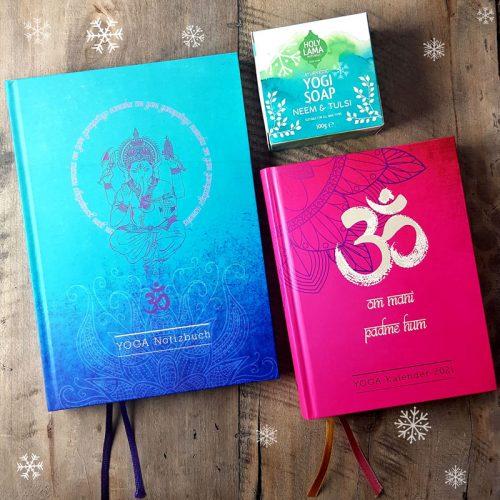 Yoga Kalender mit Notizbuch und Yogi Soap