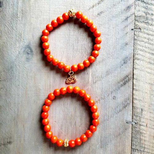 Armband Howlith Orange