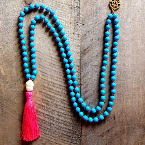 Howlith Mala blue-pink