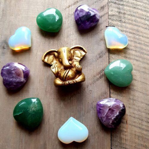 Herzen mit Ganesha
