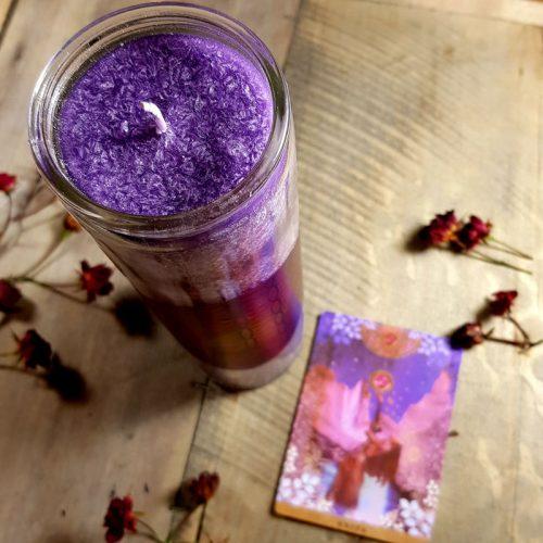 Kerze BdL purple 1