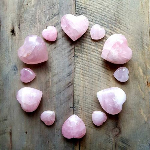 Rosenquarz Herzen 3