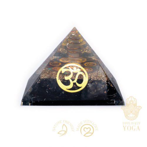 Orgonit Chakra Pyramide Schwarzer Turmalin Mit OM