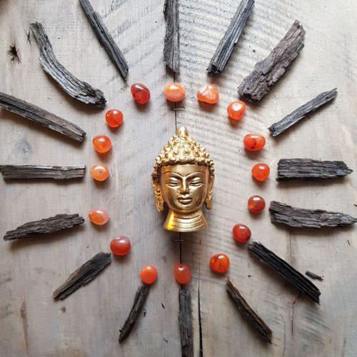 Buddhakopf Messing 1