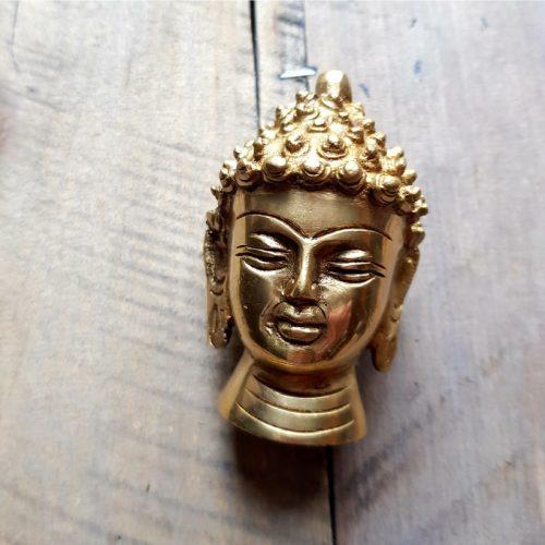 Buddhakopf Messing 2