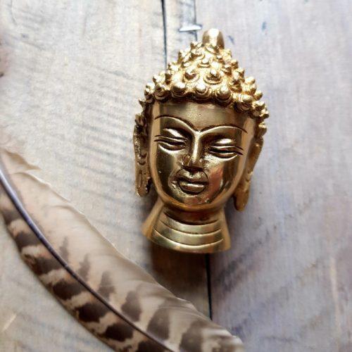 Buddhakopf Messing 3