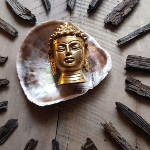 Buddhakopf Messing