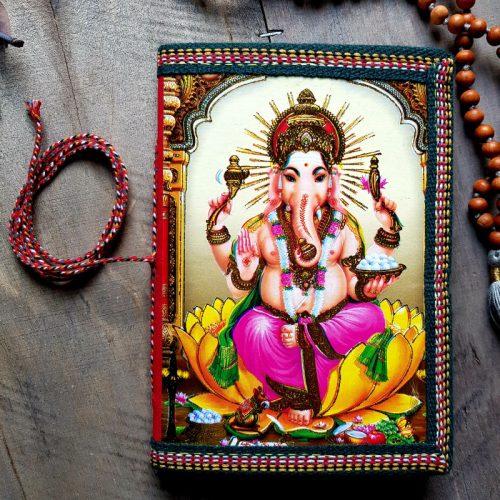 Notizbuch Ganesha India Bunt 2