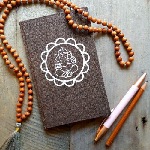 Notizbuch Ganesha Mandala Braun