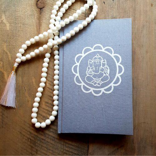 Notizbuch Ganesha Mandala Grau