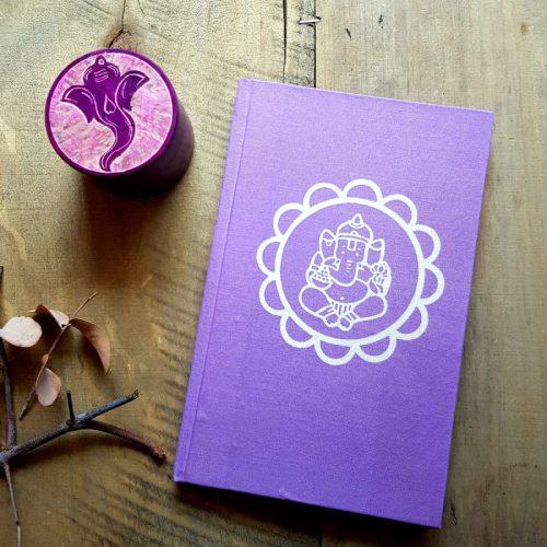 Notizbuch Ganesha Mandala Lila