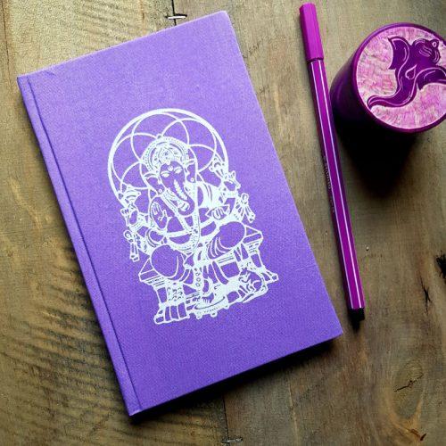 Notizbuch Ganesha Lila
