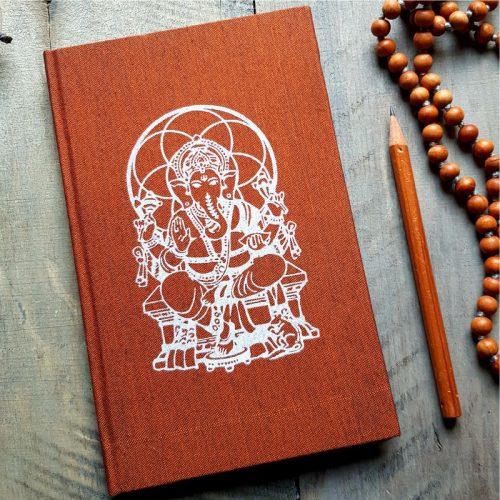 Notizbuch Ganesha Messing 1