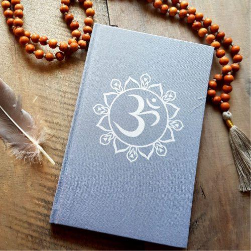 Notizbuch OM Mandala Grau