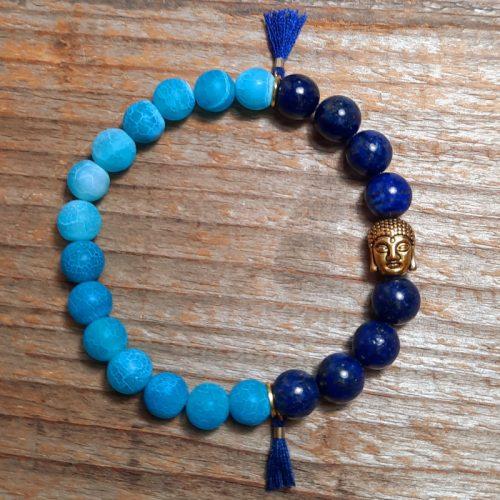Armband Lapislazuli Buddha