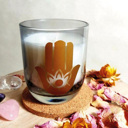 Duftkerzen im Glas Hamsa water 2
