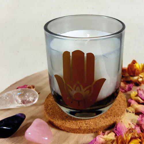 Duftkerzen im Glas Hamsa water