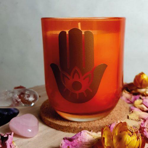 Hamsa-Kerze im Glas exotique 2