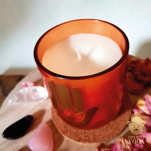 Hamsa-Kerze im Glas exotique 1