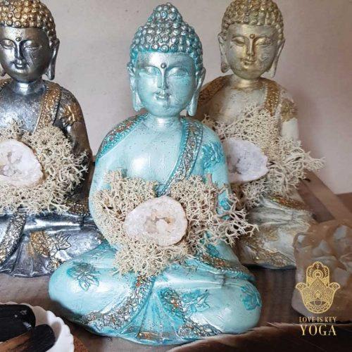 Buddha Aqua Gold Bergkristall 2