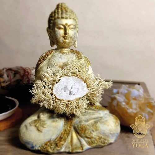 Buddha Creme Gold Bergkristall 3