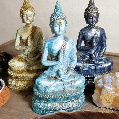 Sitzender Buddha Aqua