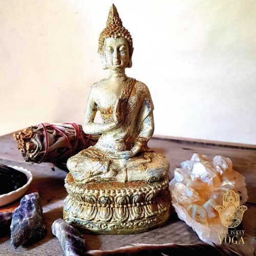 Sitzender Buddha Gold 1