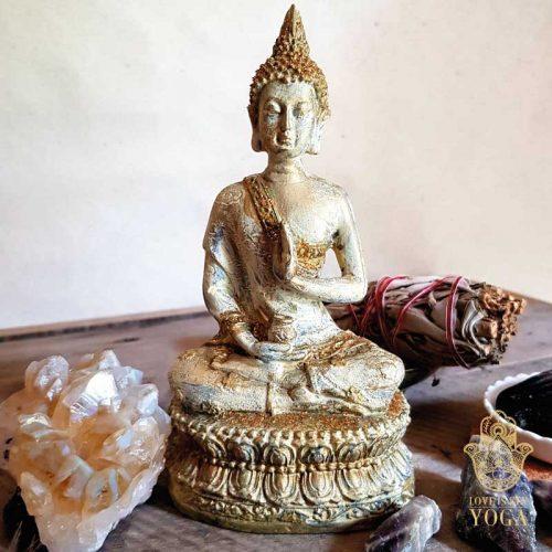 Sitzender Buddha Gold 2