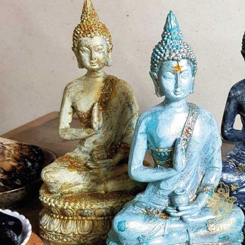 Sitzender Buddha Gold