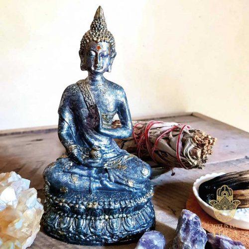 Sitzender Buddha Grey 1