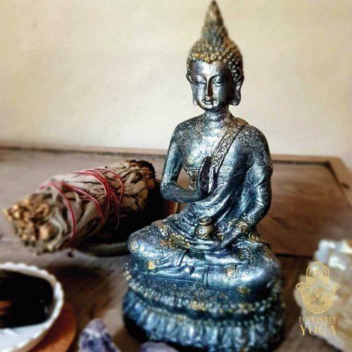 Sitzender Buddha Grey 2