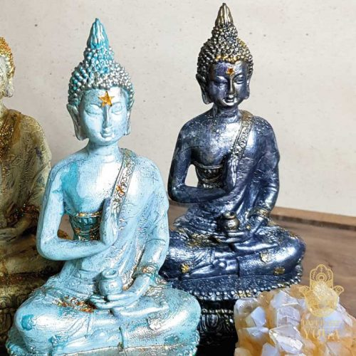 Sitzender Buddha Grey